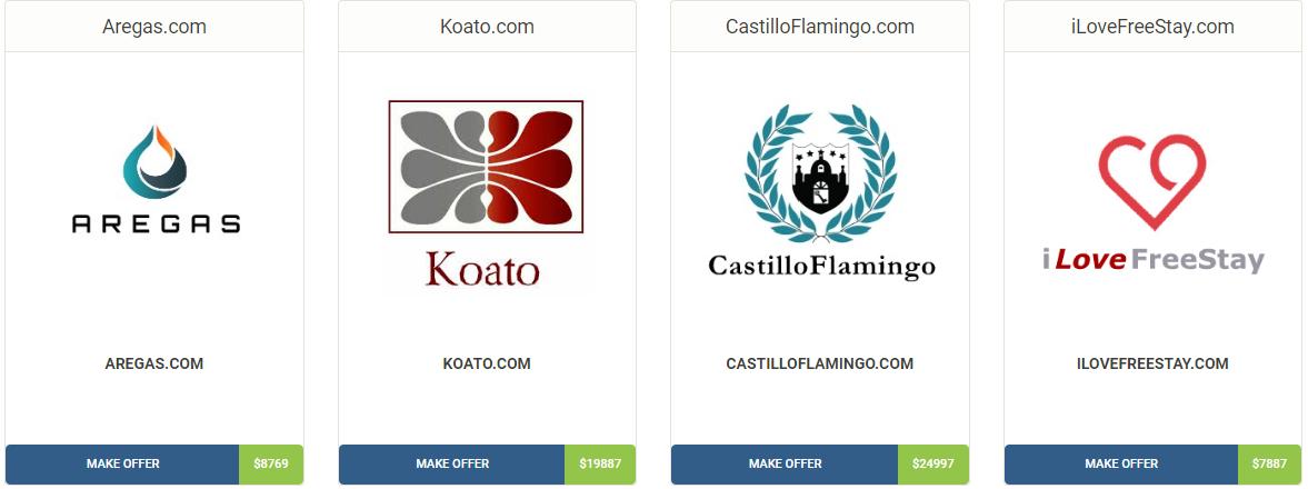 Domains with custom logos
