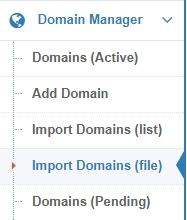 Convert domain list from Excel file to CSV