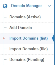 DNHAT Bulk import domain list