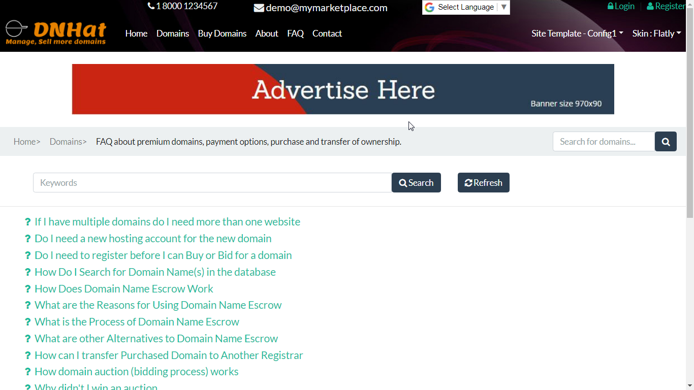 DNHat CashVow Subscription. Ad Spaces on other pages. Header (top) zone