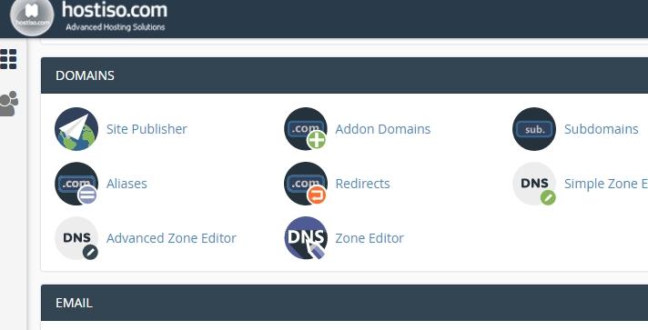 Addon Domains item screenshot